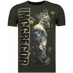 Textiel Heren T-shirts korte mouwen Local Fanatic Notorious King - Conor McGregor Rhinestone T-shirt