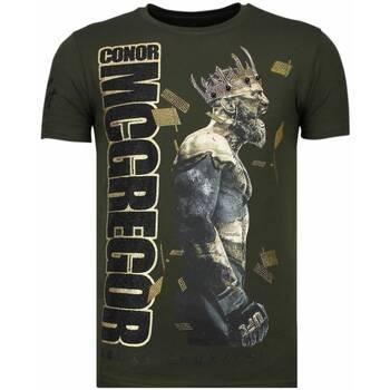 Textiel Heren T-shirts korte mouwen Local Fanatic Notorious King - Conor McGregor Rhinestone T-shirt Groen