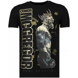 Textiel Heren T-shirts korte mouwen Local Fanatic Notorious King - Conor McGregor McGregor Rhinestone T-shirt 38