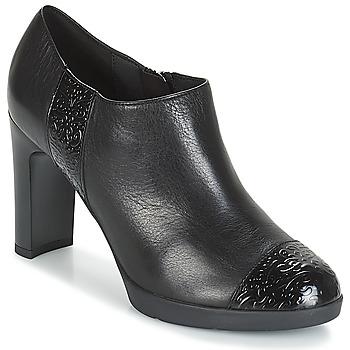 Schoenen Dames Low boots Geox D ANNYA HIGH Zwart