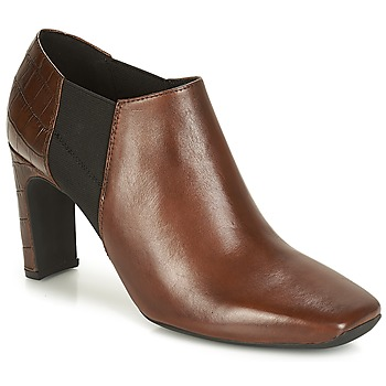 Schoenen Dames Low boots Geox D VIVYANNE HIGH Bruin