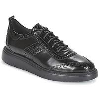 Schoenen Dames Derby Geox D THYMAR Zwart