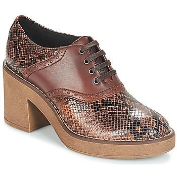 Schoenen Dames Low boots Geox D ADRYA MID Bruin
