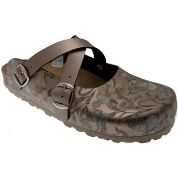 Schoenen Dames Leren slippers Riposella RIP19225br marrone