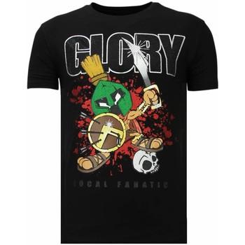 T-shirt Korte Mouw Local Fanatic  Glory Martial - Rhinestone T-shirt