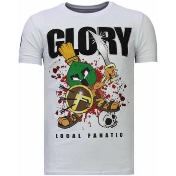Textiel Heren T-shirts korte mouwen Local Fanatic Glory Martial - Rhinestone T-shirt 1