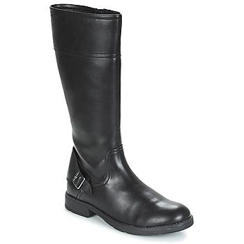 Schoenen Meisjes Hoge laarzen Geox JR SOFIA Zwart
