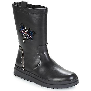 Schoenen Meisjes Hoge laarzen Geox J GILLYJAW GIRL Zwart