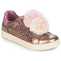 Schoenen Meisjes Lage sneakers Geox J DJROCK GIRL Beige / Roze