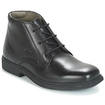 Schoenen Jongens Laarzen Geox JR FEDERICO Zwart