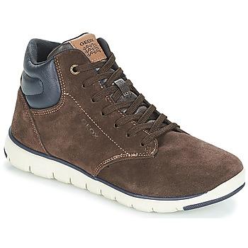Schoenen Jongens Hoge sneakers Geox J XUNDAY BOY Bruin / Marine
