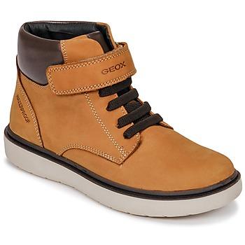 Schoenen Jongens Hoge sneakers Geox J RIDDOCK BOY WPF Geel