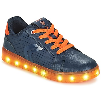 Schoenen Jongens Lage sneakers Geox J KOMMODOR BOY Marine / Oranje