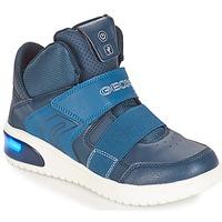 Schoenen Jongens Lage sneakers Geox J XLED BOY Marine