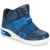 Schoenen Jongens Hoge sneakers Geox J XLED BOY Marine