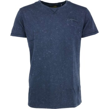 Textiel Heren T-shirts korte mouwen No Excess T-shirt s/sl, r-neck, acid washed j night Blauw
