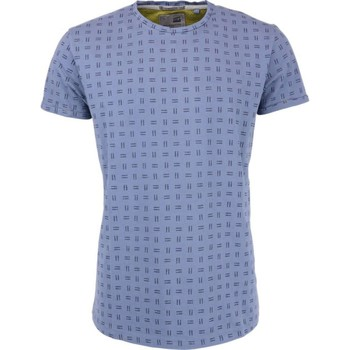 Textiel Heren T-shirts korte mouwen No Excess T-shirt s/sl, r-neck, allover print dk blue Blauw