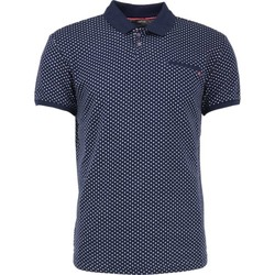 Textiel Heren Polo's korte mouwen No Excess T-shirt s/sl, polo, jacquard night Blauw