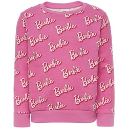 Textiel Meisjes Sweaters / Sweatshirts Name It Kids NKFBARBIE MADIE LS BRU SWEAT Rosa