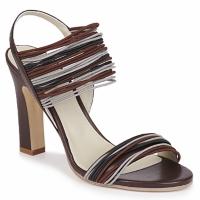 Schoenen Dames Sandalen / Open schoenen Jil Sander JS16121 Bruin