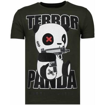 Textiel Heren T-shirts korte mouwen Local Fanatic Terror Panda - Rhinestone T-shirt - Groen