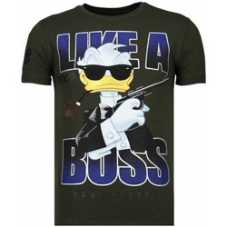Textiel Heren T-shirts korte mouwen Local Fanatic Like A Boss - Rhinestone T-shirt