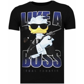 Textiel Heren T-shirts korte mouwen Local Fanatic Like A Boss - Rhinestone T-shirt 38