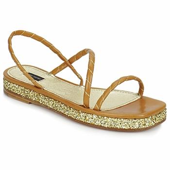 Schoenen Dames Sandalen / Open schoenen Marc Jacobs MJ16405 Bruin / Goud