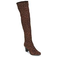 Schoenen Dames Hoge laarzen André PRISCA 3 Luipaard