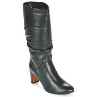 Schoenen Dames Hoge laarzen André SARA Zwart