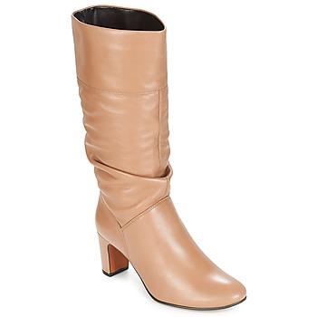 Schoenen Dames Hoge laarzen André SARA Beige