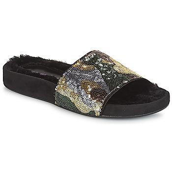 Schoenen Dames Leren slippers André ANTOINETTE Goud