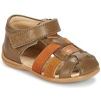 Schoenen Jongens Sandalen / Open schoenen André LES PRALINES Bruin
