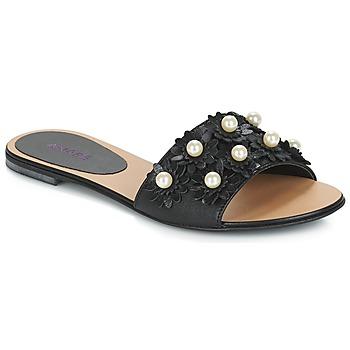 Schoenen Dames Leren slippers André LORETTA Zwart