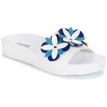 Schoenen Dames Leren slippers André GARDENIA Blauw