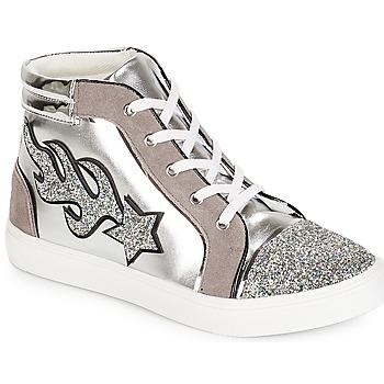 Schoenen Dames Hoge sneakers André LOTUS Zilver