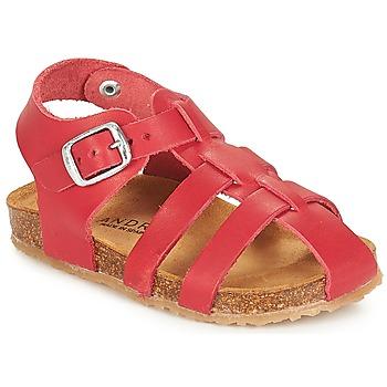 Schoenen Kinderen Sandalen / Open schoenen André AVIRON Rood