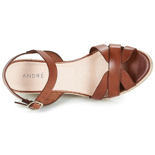 André Quiberon Bruin - Gratis Levering Schoenen Sandalen Dames 6899
