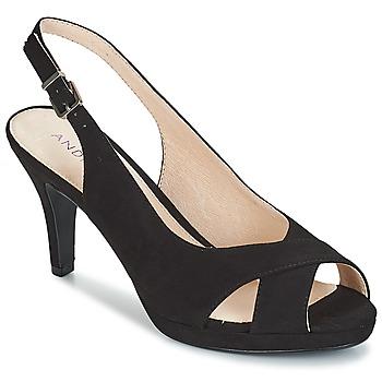 Schoenen Dames Sandalen / Open schoenen André EDWIGE Zwart
