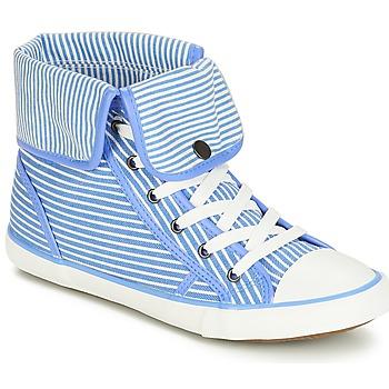 Schoenen Dames Hoge sneakers André GIROFLE Wit / Blauw