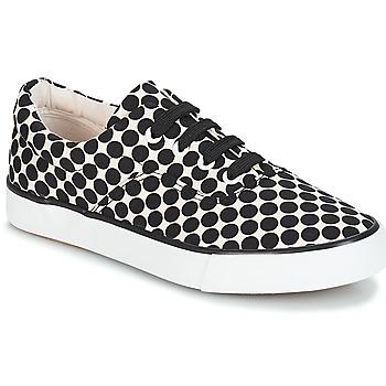 Schoenen Dames Lage sneakers André FUSION Polka dot / Zwart