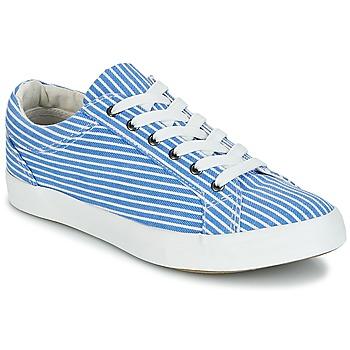 Schoenen Dames Lage sneakers André SESAME Gestreept / Blauw