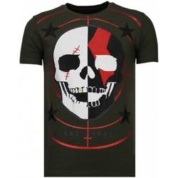 Textiel Heren T-shirts korte mouwen Local Fanatic God Of War - Rhinestone T-shirt Groen