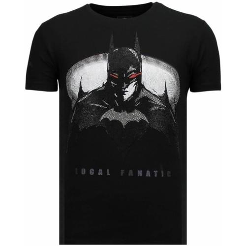 Textiel Heren T-shirts korte mouwen Local Fanatic Badman Rhinestone Zwart