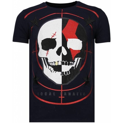 Textiel Heren T-shirts korte mouwen Local Fanatic God Of War Rhinestone Blauw