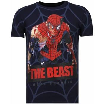 Textiel Heren T-shirts korte mouwen Local Fanatic The Beast Spider - Rhinestone T-shirt - Blauw