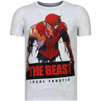 Textiel Heren T-shirts korte mouwen Local Fanatic The Beast Spider - Rhinestone T-shirt 1