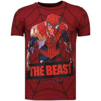 Textiel Heren T-shirts korte mouwen Local Fanatic The Beast Spider - Rhinestone T-shirt