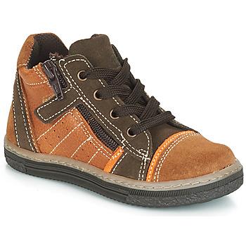 Schoenen Jongens Hoge sneakers Citrouille et Compagnie JESSICA Camel