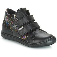 Schoenen Meisjes Lage sneakers Citrouille et Compagnie JUPETTE Zwart / Fleur